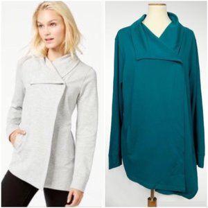Stitch Fix Kensie Mally Ponte-Knit Snap Jacket XXL